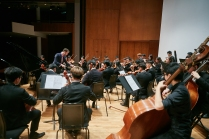 Rehearsal with Collegium Musicum Hong Kong at Hong Kong City Hall Concert Hall